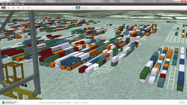 واسط کاربری زیبای container terminal monitoring