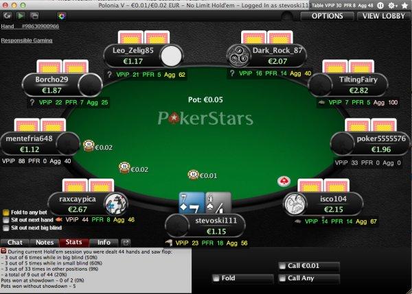 واسط کاربری زیبای بازی poker copilot