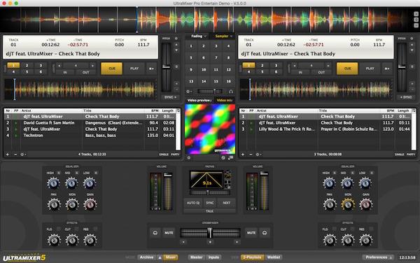 واسط کاربری زیبای نرم افزار ultra mixer