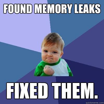 پیدا کردن مکان نشت حافظه